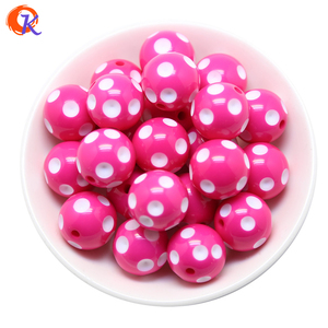 Image 4 - Cordial Design Fashion Jewelry Mixed Color 12MM 14MM 16MM 18MM 20MM Resin Polka Dot Beads For Chunky Beaded Necklace Jewelry