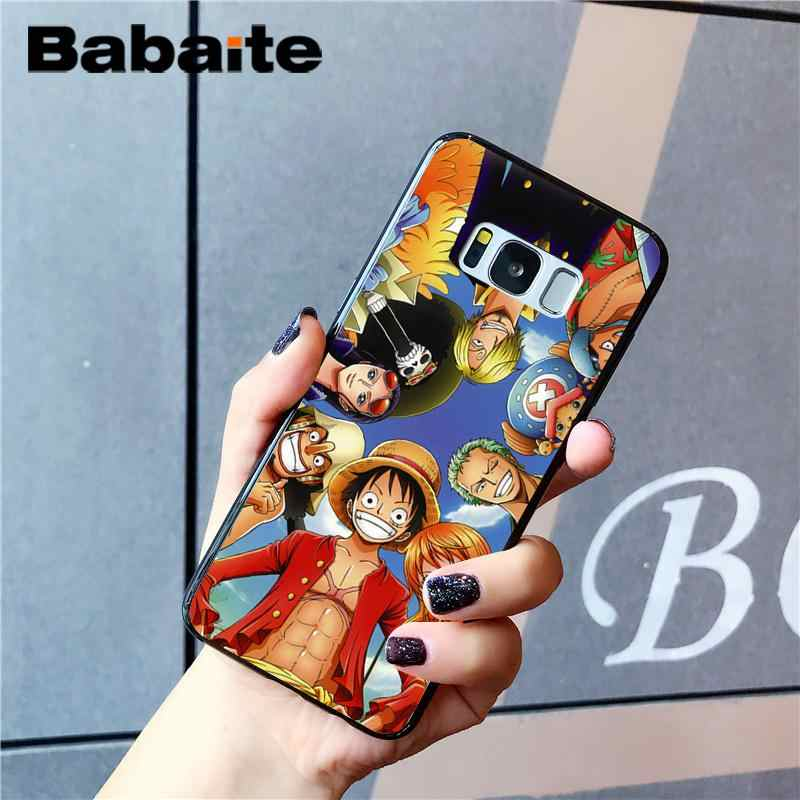 Babaite אנימה חתיכה אחת לופי Roronoa Zoro Custom תמונה רך מקרה טלפון עבור Samsung Galaxy S4 S5 S6 S7 S8 s9