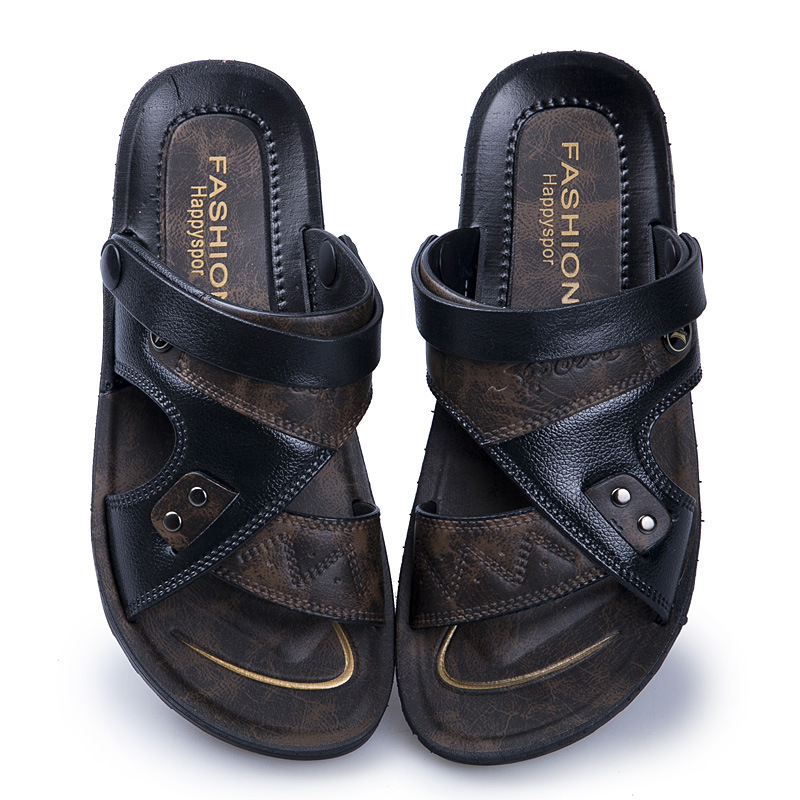 Mazefeng 2019 New Casual Men Soft Sandals Comfortable Men Summer Leather Sandals Men Roman Summer Outdoor Beach Sandals Big Size