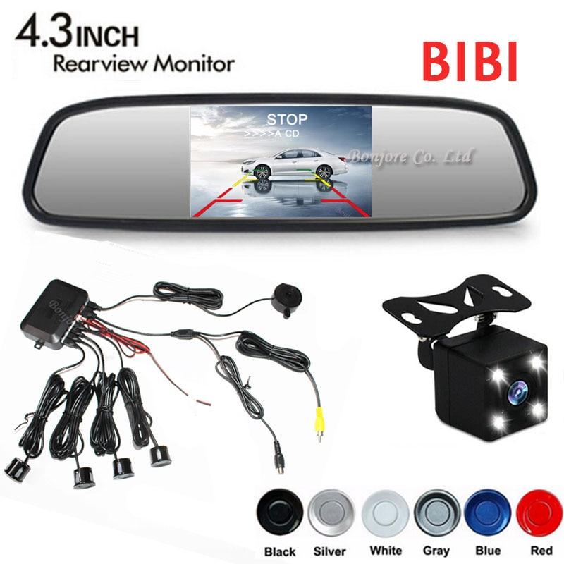 Car Video Reverse Parking Sensor Kit Connect Rear view font b Camera b font 4 Led