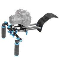NEEWER DSLR Shoulder Mount Support Rig with Camera/Camcorder Mount Slider Shoulder Double hand Handgrip C shape For Canon/Nikon
