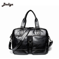 Classic Design Leather Messenger Bags For Man Famous Brand Mens Handbag Promotional Casual Business Briefcase