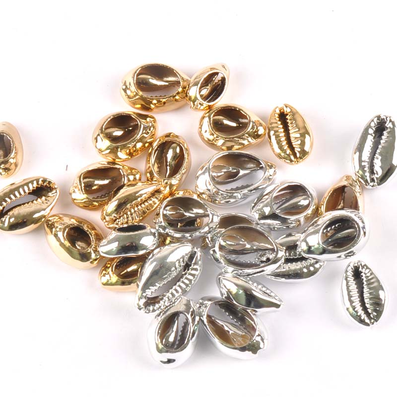 10pcs gold and silver Natural Shell Loose Beads for jewelry making DIY TRS0297