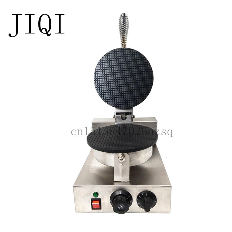 JIQI Electric <font><b>Ice</b></font> Cream cone Machine crepe donut cake waffle <font><b>makers</b></font> household commercial kitchen helper