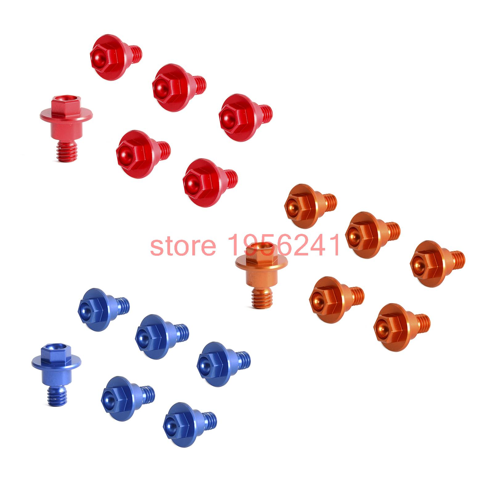 6 Pcs Bolt Fork Guard Set For KTM 65 85 SX 03-15 125 200 250 300 350 400 450 525 530 SX SXF XC XCF EXC EXCF XCW XCFW 2000-2016 for ktm exc sx sxf xc xcw xcf excf excw xcfw mx six days 65 85 125 200 250 300 350 400 450 525 billet mx foot pegs rests pedals