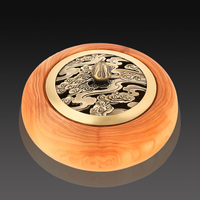 Rosewood incense box arborvitae aromatherapy incense sandalwood incense wood quality creative disc with