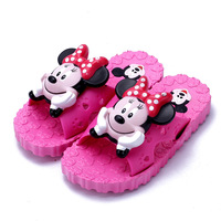 New Retail Cartoon Shoes Mickey Minnie Mouse Baby Girl Boys Summer Sandals Anti Slip Children Slippers