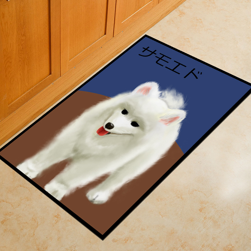 Милая собака серии пол ковры Anti-коврик для Спальня Гостиная лестницы кухней детская игровая комната коврики дома ковер 50x80 см