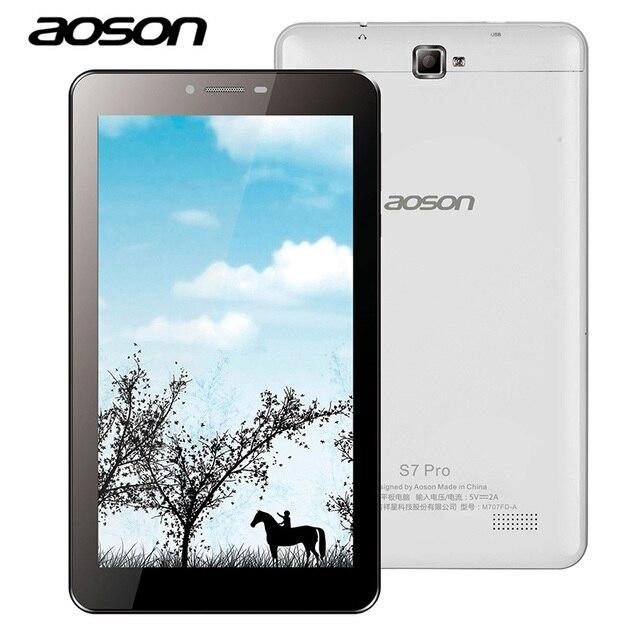 4 Г LTE Телефонный Звонок Aoson 7 Дюймов S7 Pro Android 6.0 8 ГБ ROM Quad Core IPS Экран Планшетного ПК Двойная Камера Bluetooth Один Год гарантия