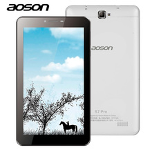 4G LTE Phone Call Aoson 7 Inch S7 Pro Android 6.0 8GB ROM Quad Core IPS Screen Tablet PC Dual Camera Bluetooth One Year Warranty