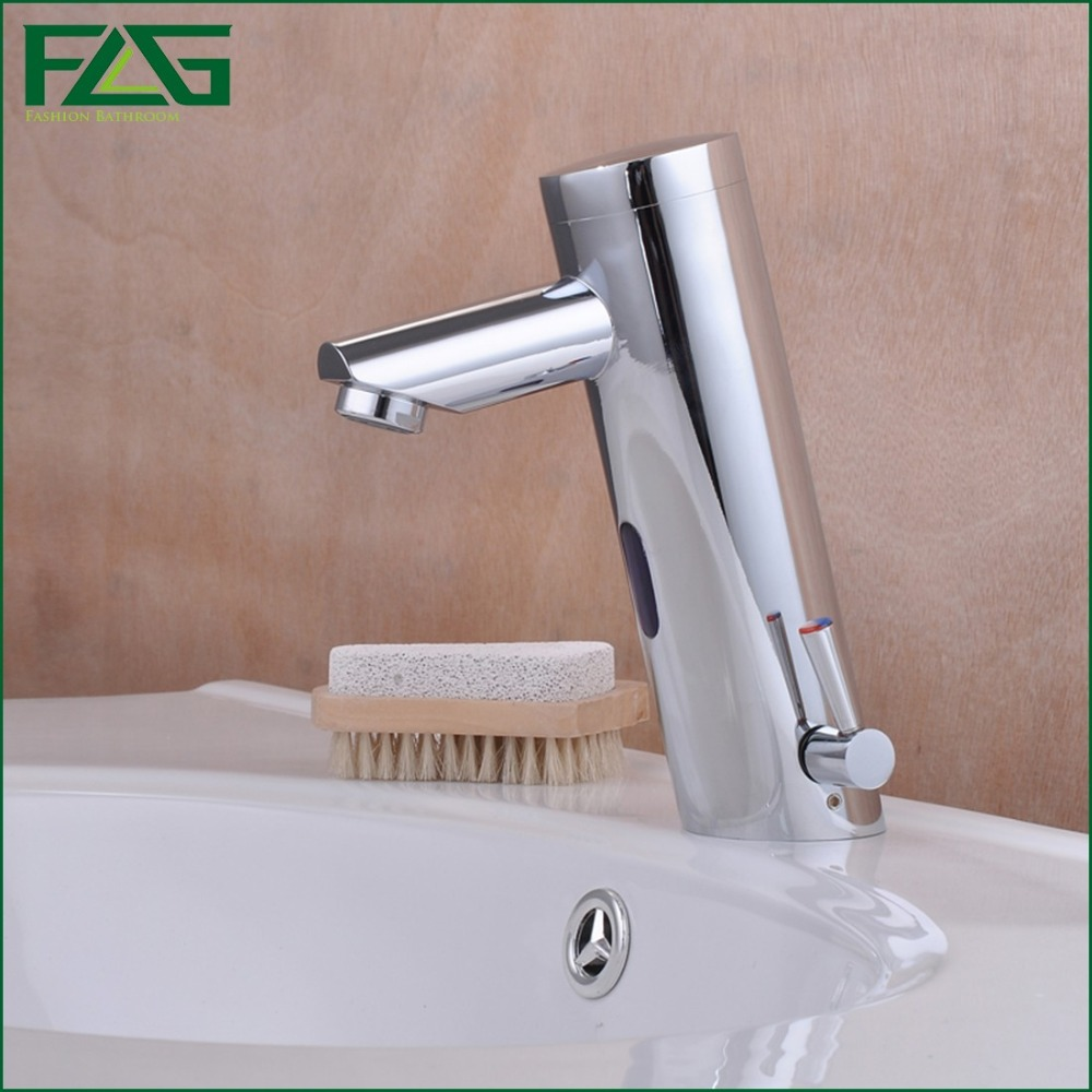 flg basin faucet chrome polished automatic hand touch tap hot cold mixer sensor faucet bathroom sink