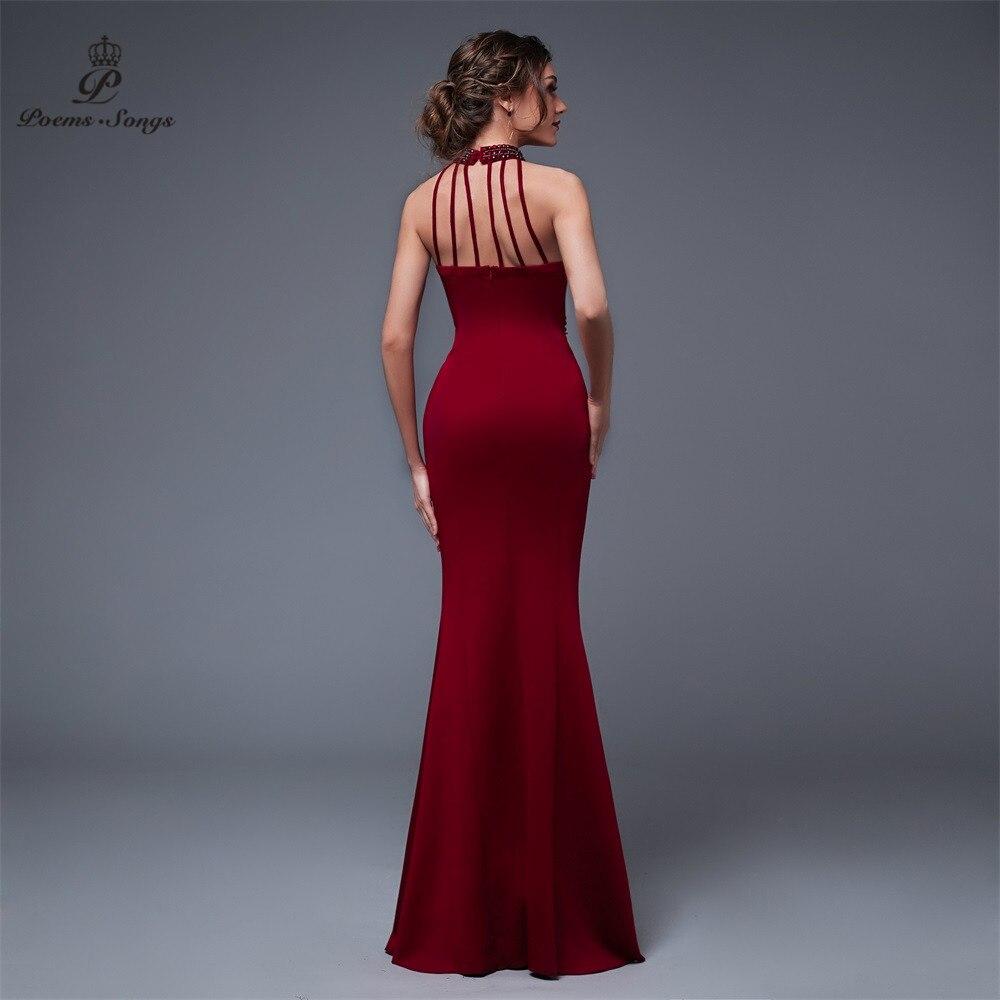 Poems Songs Backless Elegant Charming Slit Side Open Prom Formal Party dress vestido de festa Elegant Vintage robe longue