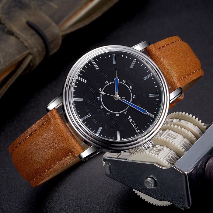 YAZOLE 2017 Top Brand Luxury Wrist Watch Men Watches Famous Male Clock Quartz Watch for Man Hodinky Wristwatch Relogio Masculino mnml couture футболка