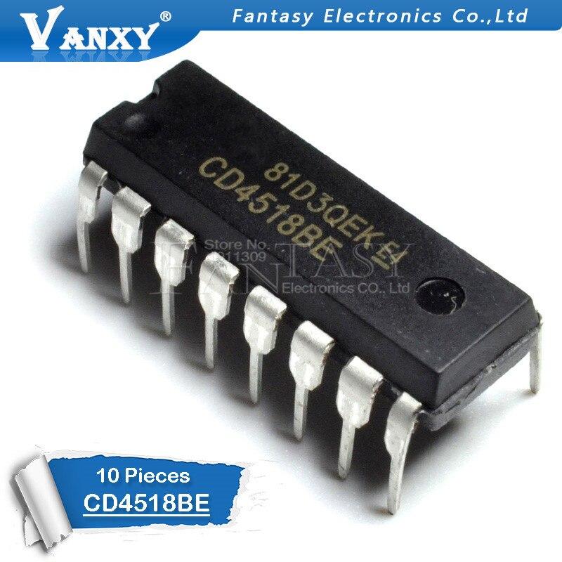 10pcs CD4518BE DIP-16 CD4518 DIP 4518BE 4518 DIP16 New Original