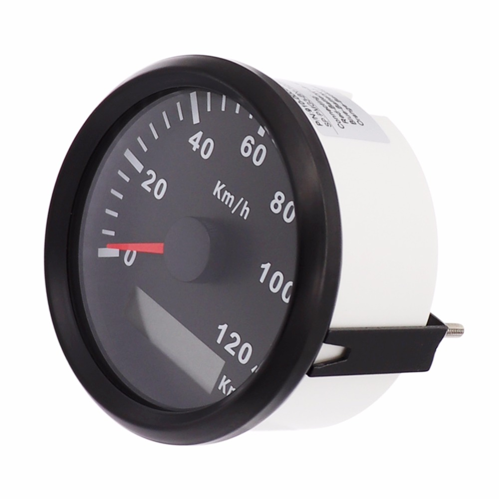 85mm GPS Speedometer Gauge Boat Car 120km/h 200km/h Speed Gauge Stainless Steel Speedometer for Motorcycle Marine Car 9~32V 100% brand new gps speedometer 60knots for auto boat with gps antenna white color