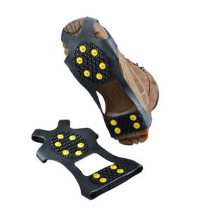 Spikes-Grips Snow-Shoes Anti-Skid 3-Size 10 Cleats Crampons Studs Non-Slip Climbing Ice-Winter