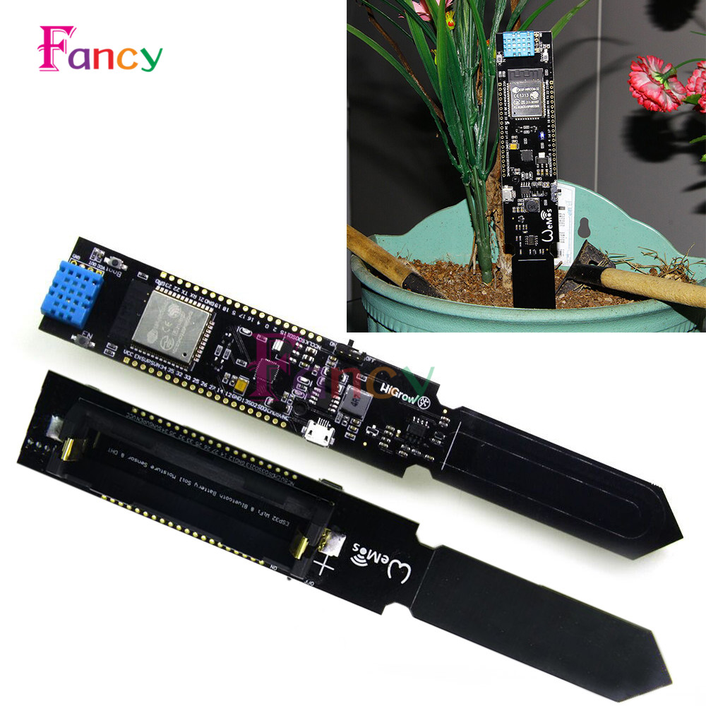 ESP32 CP2104 WIFI Bluetooth DHT11 Temperature Humidity Soil Moisture Sensor Detection Module for Arduino 18650 Battery Shield hr202 humidity detection sensor module