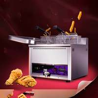 Electric Deep Fryers Blast Furnace French Fries Oil Strip Machine 17L Large Capacity Thickened Single Cylinder