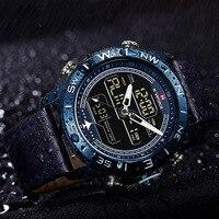 NAVIFORCE 高級ブランド男性腕時計アナログデジタル Led クォーツ時計男性軍ミリタリー腕時計男性スポーツ腕時計レロジオ