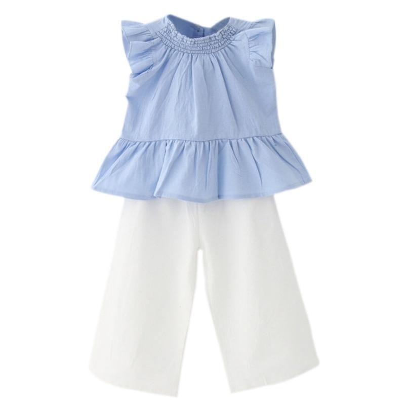 4f53c6c8743 Παιδικά σύνολα κοριτσιών 2017 Νέα μόδα παιδικά ρούχα χωρίς μανίκια + ...