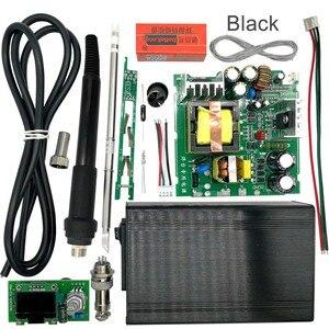 STC T12 OLED цифровая паяльная станция DIY наборы температурный контроллер Новая версия с ручкой вибропереключатель