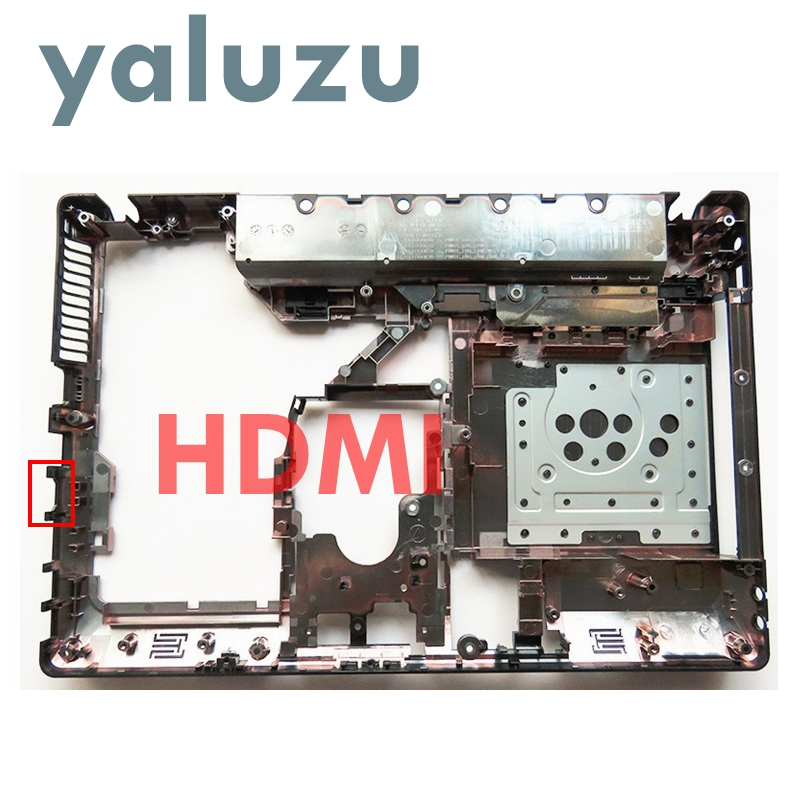 YALUZU Laptop Bottom Case Cover For Lenovo Ideapad G470 G475 G475G G470D G475GX G475GL G470AX HDMI Port Parts Lower Case