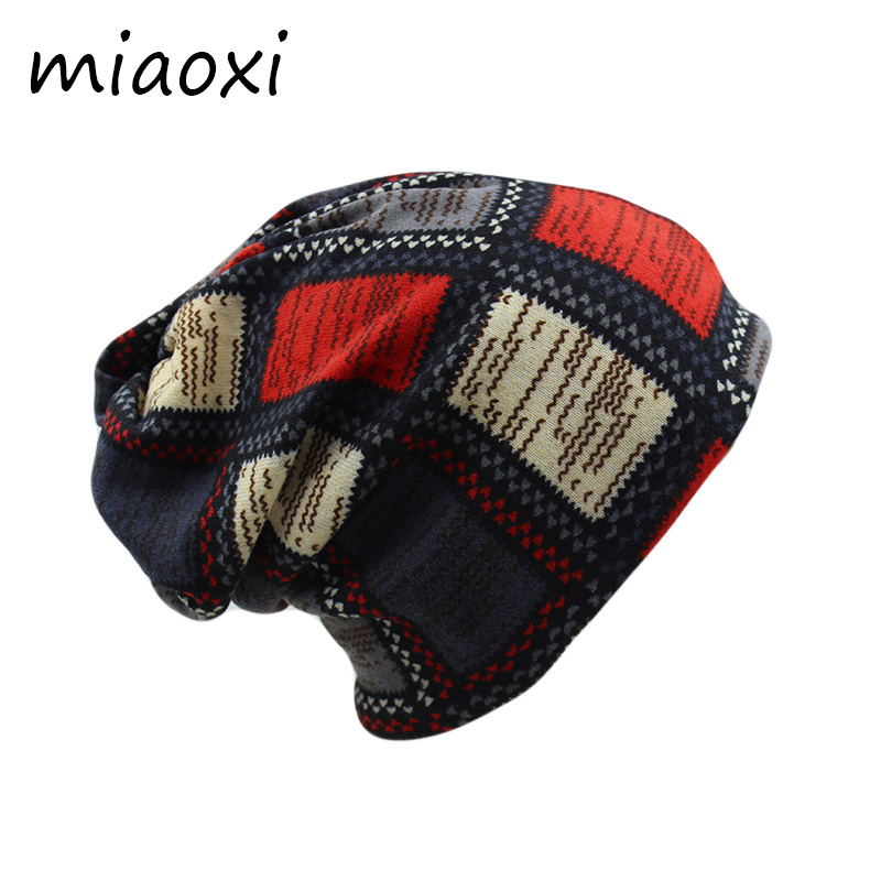 miaoxi Cheap Price Women Hat Fashion Polyester Girls Skullies Beanies Female Scarf Spring Winter Cap Two Used Adult Hats