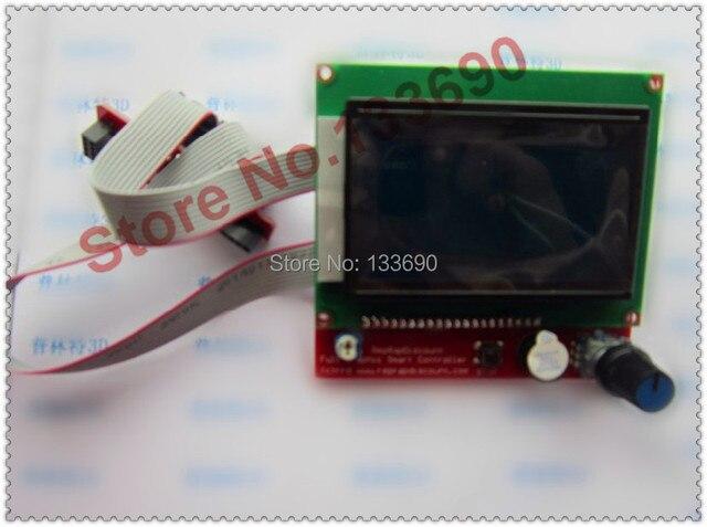 Offre spéciale 3D imprimante Kit pièces intelligentes rampes 1.4 contrôleur panneau de commande LCD 12864 écran moniteur carte mère écran bleu Module