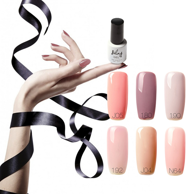 FOCALLURE Red Color Set LED Nail Gel Professional French Manicure ...