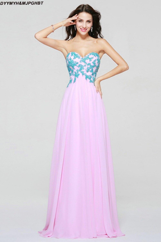 Geweldig nieuw ontwerp Sweetheart Pink met blauwe appliques Plue Size - Jurken voor bijzondere gelegenheden - Foto 2
