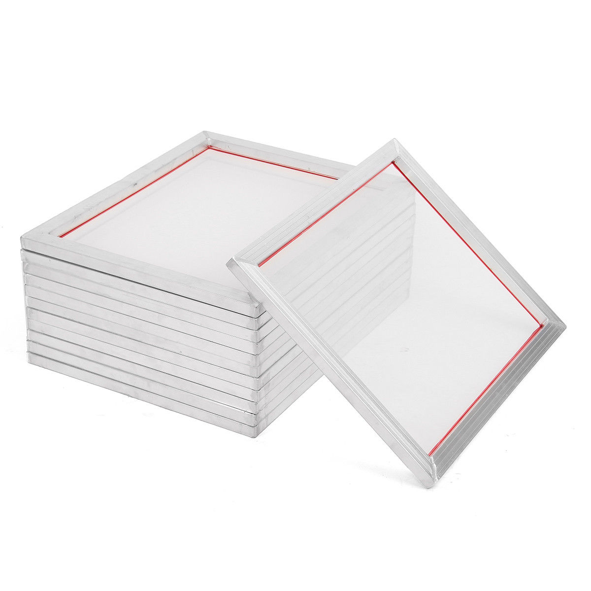 2Pcs A5 Screen Printing Aluminium Frame Stretched 32*22cm With 32T-120T Silk Print Polyester Mesh for Printed Circuit Boards2Pcs A5 Screen Printing Aluminium Frame Stretched 32*22cm With 32T-120T Silk Print Polyester Mesh for Printed Circuit Boards