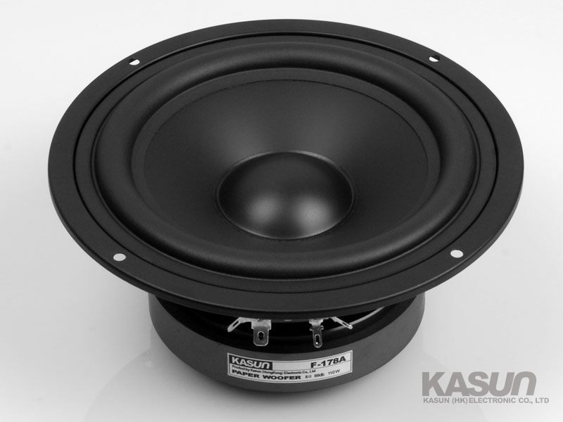 1pcs HI-FI series paper woofer loudspeaker F-178A 6.5-inch bass speaker 110W 8 ohm Multi-layer mica cone for amplifier 1pcs hi fi series loudspeaker soft dome tweeter speaker acc 1366 3 inch 40w 6 ohm for amplifier tweeter loudspeaker