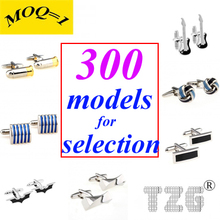 Mix From 300 Best Selling Models (MOQ=1) Stainless Steel Cufflink Cuff Link Free Shipping Promotion cheap Tie Clips Cufflinks Fashion Classic Cuff Links Simulated-pearl Stone TZG01 Various