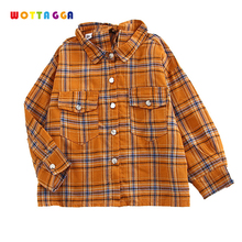 WOTTAGGA 2019 Spring Autumn Casual Kids Blouse Shirts Children Girls Long Sleeved Classic Red Shirts Baby Girl Cotton Clot girls plaid blouse 2019 spring autumn turn down collar teenager shirts cotton shirts casual clothes child kids long sleeve 4 13t