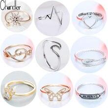 Chandler marca melhores amigos amor forma anel anel anel anel feminino meados dedo dedo da junta bague amizade eterna para sempre melhores presentes