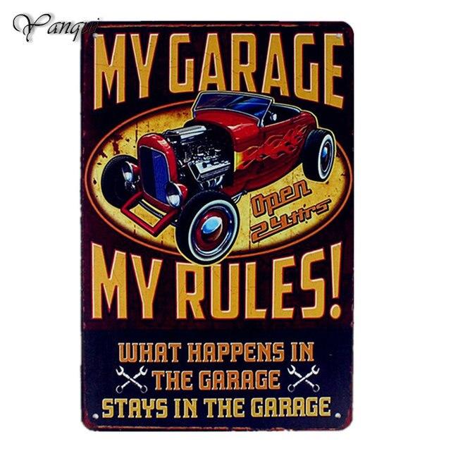 Vintage usa metal plaque pin up hot rod garage 40 x 30 cm