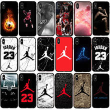 info for 8adfe 1b70b Jordan 23 Phone Case For Iphone X Xs Max Xr 10 Ten 8 7 6 6s Plus 5 5s Se  Black Soft Silicone TPU Cover Basketball Sports Coque