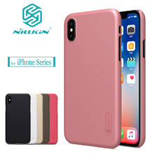 Nilkin for iPhone X 8 7 6S 6 SE 5S Case Nillkin Frosted Hard PC Plastic Back Cover for Apple iPhone 8 7 6S 6 Plus X SE 5S Cases