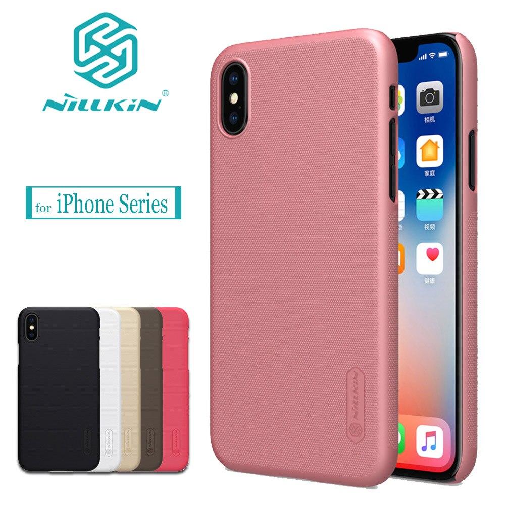 Nilkin pour iPhone X 8 7 6 S 6 SE 5S Cas Nillkin Givré Dur PC en plastique de Couverture Arrière pour Apple iPhone 8 7 6 S 6 Plus X SE 5S Cas