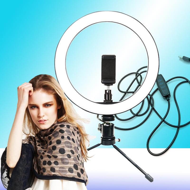 cheapest 10 Inch LED Ring Light Lamp Selfie Camera Phone Studio Tripod Stand Dimmable Adjustable Angle NC99