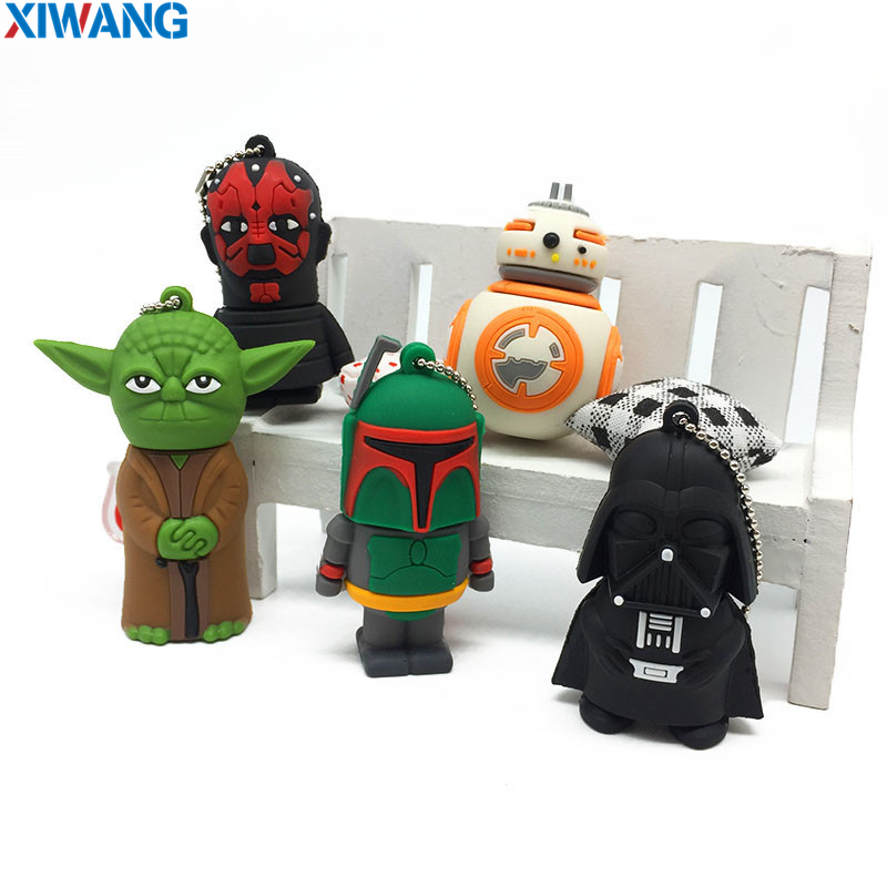 Image 2 - XIWANG USB Flash Memory Stick 64GB Pen drive Cartoon Star wars darth vader 128GB 32GB 16GB 8GB4GB Pendrive 100% USB Flash Drive-in USB Flash Drives from Computer & Office