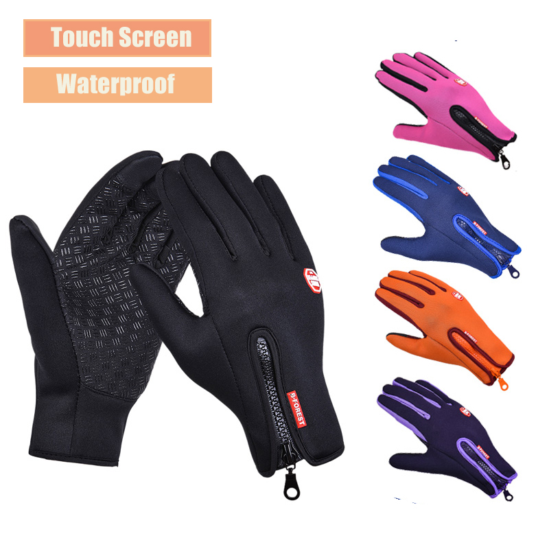 Windproof Touch Screen Ski Gloves Water Splash-proof Full Finger Cycling Mittens