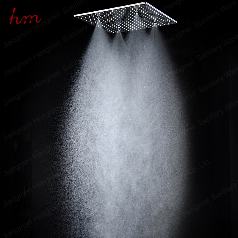 popular stainless steel led rain and mist shower head ceiling mounted massage spray