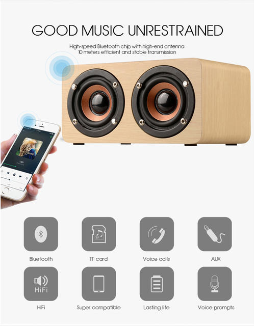 Wooden Wireless Bluetooth Speaker 2
