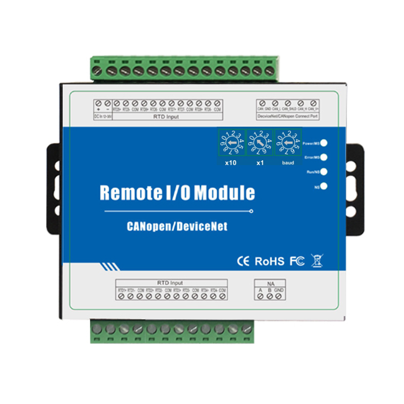 DeviceNet RTD Remote IO Module Supports PT100 Or PT1000 With Isolated CANBUS 2.0 Interface M340D