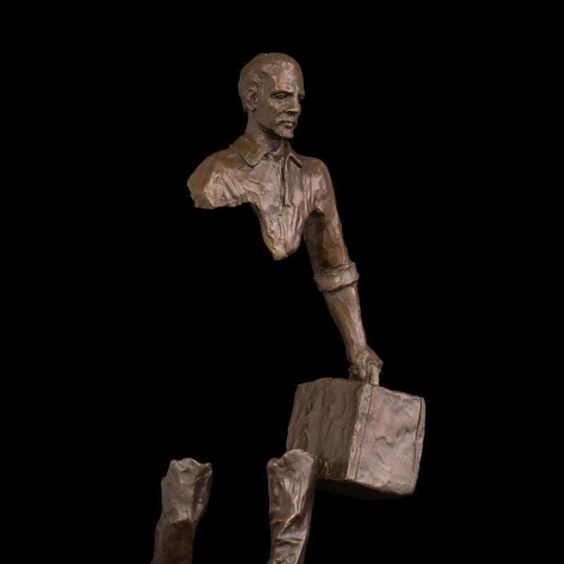 Estatuas de bronce de cobre Hombre abstracto Figura Figura de viajero - Decoración del hogar - foto 3