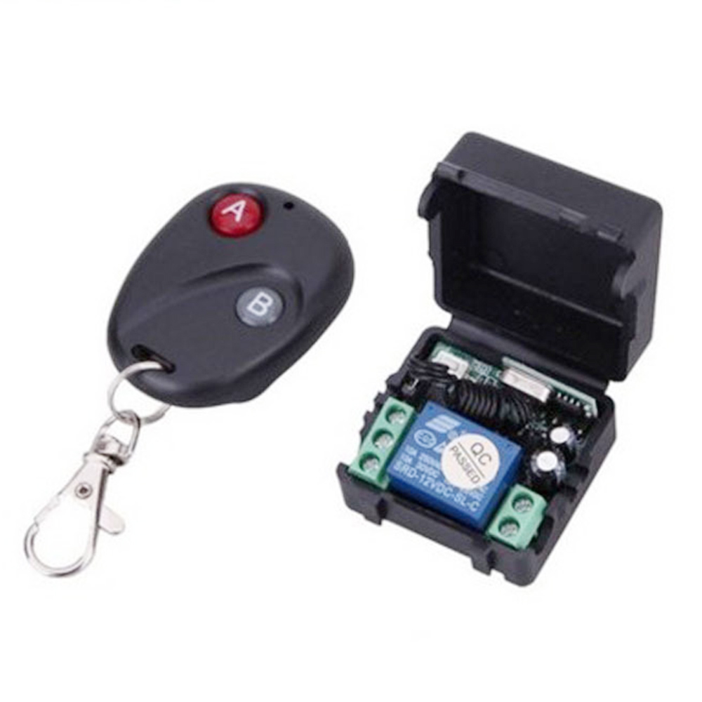 DC12V Electromagnetic Lock 2 Channel Remote Control Switch Access Control Remote Control Doorbell Luggage Single Channel 12V