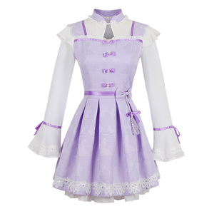 Image 5 - Princess sweet lolita purple dress Candy rain Chinese style Stand collar Bow decoration Pleated  A Chinese design C16CD6135