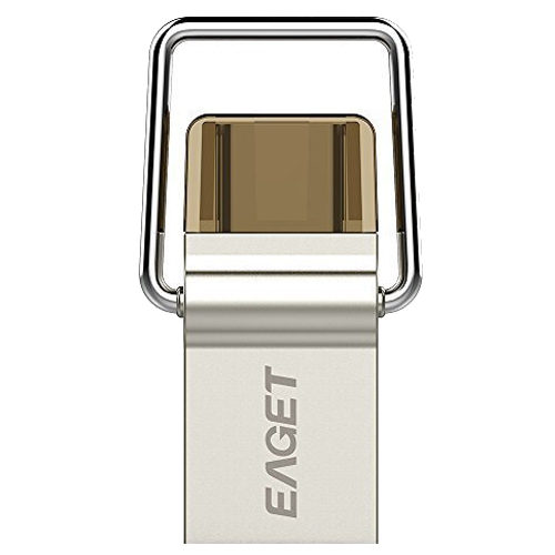 EAGET CU10 Type-C 3.1+ USB 3.0 OTG Flash Drive for New Macbook, OnePlus 2, Google Nexus 5x 6p and Other Type C Devices (32GB)