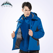 2018 New Outdoor Warm Thick Waterproof Jacket Three In One Mountaineering Suits Waterproof Autumn And Winter Men Jackets